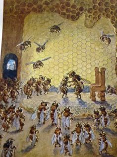 September ~ Bees, Wax  Honey ~ The German Fairy Tale of the Mysterious Bee Queen ~ Story
