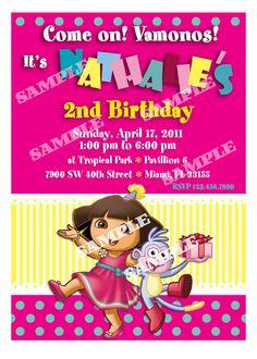 Dora Birthday Invitation  Dora the Explorer by artisacreations, $12.00