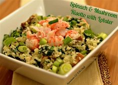Spinach & Mushroom 'Risotto' with Lobster - The Kitchen Table - The Eat-Clean Diet®