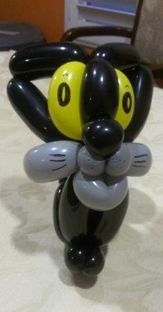 Cat balloon sculpture #cat-balloon sculpture #cat balloon art #cat-balloon art #cat balloon animal #cat-balloon animal