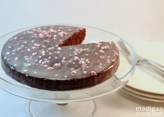 Recipe for Easy Chocolate and Candy Cane Cake