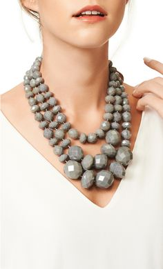 Gorgeous grey statement necklace by kate spade new york
