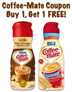 Coffee-Mate Coupon: Buy 1, Get 1 FREE! #coffee #creamer
