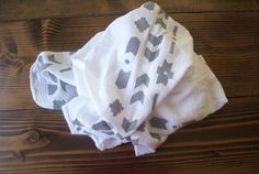 Grey Tribal Swaddle Blanket by SoundBaby on Etsy, $20.00