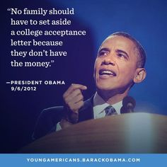 An excellent quote from Mr. president