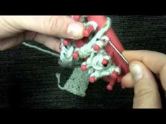 Loom Knit: Twisted Keyhole stitch (double knit)