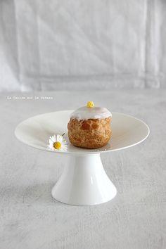 choux070 Petits choux (choux craquelins au lemon curd & petits choux glacés à la vanille)