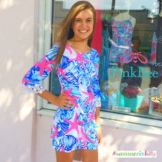 Pink Bee | Lilly Pulitzer Summer 2014 | Harbour Tunic Dress She She Shells