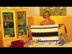 Click here to DIY a quick, cute, apron from a linen dish towel.  Blog & Video from MrsPollyRogers.com