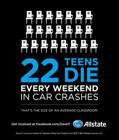 We all look forward to the weekend, especially teens. But come Monday, an average of 22 teens won't be back in class because of car crashes. The lesson for us all is that GDL laws help save lives. Support them in your state.