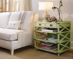 Side table with storage and pretty too!