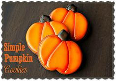 cooki blog, pumpkin cookies, barefoot baker, simpl pumpkin, bearfoot baker, decor cooki