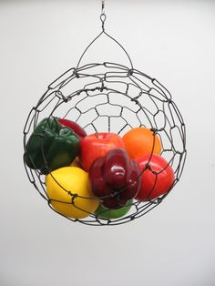 One Etsy seller's take on the hanging wire produce basket. #etsy #etsyfinds