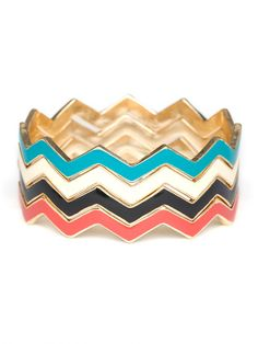 zig zag bangle stack