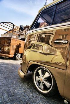Gold VW Bus
