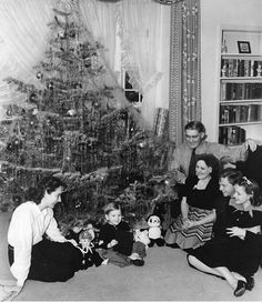 Mickey Rooney, Judy Garland, at Judy's house for Christmas