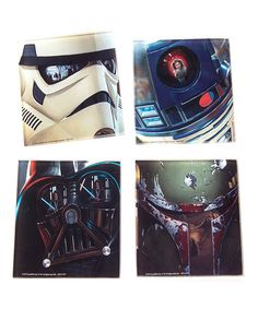 Star Wars Four-Piece Glass Coaster Set by Star Wars #zulily #zulilyfinds