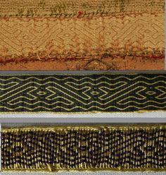 Altartuchborte Halberstadt  Original: Domschatz Halberstadt  middle: pattern without brocading below: pattern with brocading tablet woven by aisling