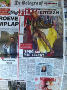 "Sven Ratzke as Hedwig And The Angry Inch Berlin photographed by me at the Berlin Wall - in the Dutch Newspaper ""De Telegraaf"" - published today! 11 06 2014 www.dennisveldman.nl"