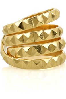 gold studded ring: designed by Daisy Knights