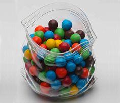 Unzipped Glass Bag  Jar - Very Clever Design