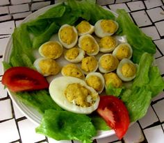 Stuffed eggs.Delicious side dish recipe.Quick and easy to make.