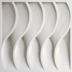 The Process Series II by Matthew Shlian | Art | The Ghostly Store wave pattern, texture paper, white texture, matthew shlian, art, wave sound texture, inspir, waves pattern, wave design