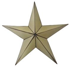 "Wall Art Barn Stars-size- 18"" X 18.5"" X 4""- Available in 3 Colors (Antiqued Creme)"