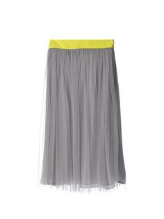 Air Tulle Midi Skirt