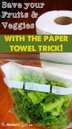 Save your Fruits and Veggies with the Paper Towel Trick