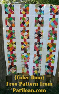Pat Sloan quilt Cider Row free pattern