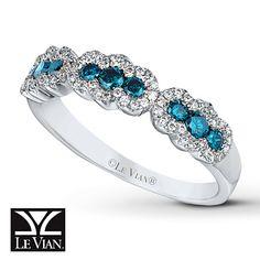 Blueberry Diamonds™ Ring 1/2 ct tw Round-cut 14K Vanilla Gold™