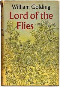 """Lord of the Flies by William Golding  London: Faber and Faber. (1954). First edition. A trifle sunned at the crown, near fine in very good or better dustwrapper with a modest chip at the crown affecting the tops of the letters """"or"""" in """"Lord."""" The Nobel Prize winner's key book, his arresting first novel about the elemental savagery of human nature. . Listed on Biblio by Between the Covers- Rare Books, Inc. ABAA"""
