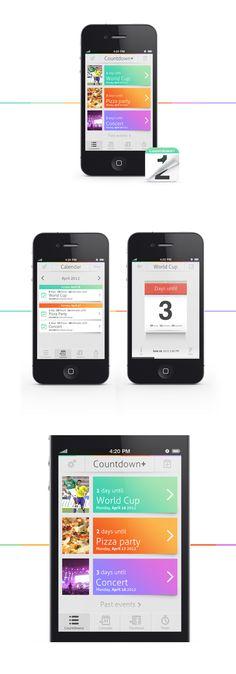 Countdown+ / by Mikael Westman #mobile #app #design    ----BTW, Please Visit:  http://artcaffeine.imobileappsys.com