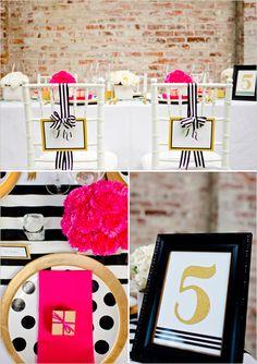 black and gold wedding ideas #blackandgoldwedding #modernwedding #weddingchicks http://www.weddingchicks.com/2013/12/31/black-and-gold-wedding-ideas/