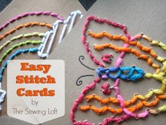 Easy Stitch Card | The Sewing Loft