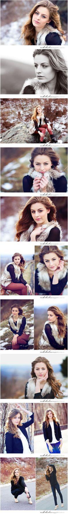 Senior girl... Winter/fall poses