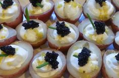 Roasted Red Potatoes with Sour Cream, Lemon Zest and Caviar