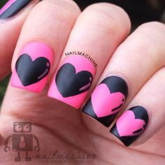 valentine by nailmachine #nail #nails #nailart