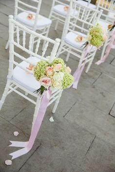 wedding aisle decor http://www.weddingchicks.com/2014/03/01/shabby-chic-italian-wedding/
