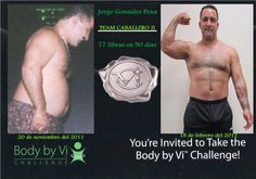 Jorge Gonzalez Pena, Team Knight down 77 pounds in 90 days, and he is preparing for a new challenge, in which he hopes to create greater expectations of life and health, falling 60 pounds more! Bravo, Jorge, you are a Champion!  http://bodybydebra.bodybyvi.com