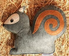 Forest Critters- Grey Squirrel with Acorn- Eco Friendly- Woodland Gardening Animal by Savage Seeds via Etsy