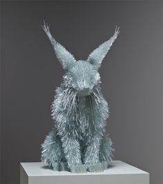 Sculptures Made Of Shattered Glass Shards