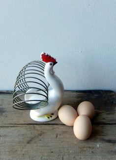 Vintage Chicken Napkin Holder by raemj on Etsy, $15.00