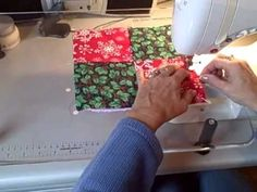A Sewing Tutorial on Video! Sew an EASY Potholder in about 6 to 12 Minutes! Easy enough for kids to do, too! Video, shows Christmas quilt fabric, but you can do this in ANY 2 Fabric Prints you'd like! FUN!