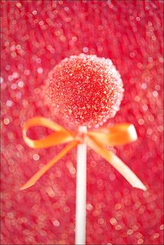 Super sweet (literally), cute, glamorous Strawberry Marzipan pops.