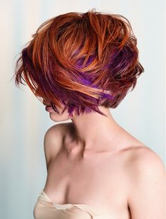 Good LORD! I want to do my hair like this...only I have kinky hair that's black...but I want indigo hidden highlights.
