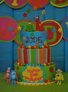 Yo Gabba Gabba party ideas- cake