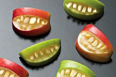 Apple Bites  http://greatist.com/health/best-halloween-recipes-102912/#