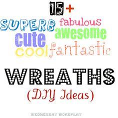 diy wreath, crafti, diywreath, door decor, craft idea
